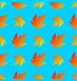 falling autumn maple leaves seamless vector image