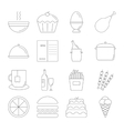 Food line icon set vector image vector image