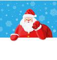 funny santa claus character greeting vector image vector image