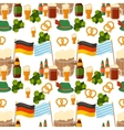 German festival seamless pattern Bavarian vector image vector image