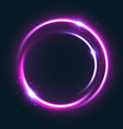 glowing circle light effect with shining star vector image
