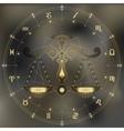 Golden scales zodiac Libra sign vector image vector image