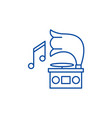 gramophone line icon concept gramophone flat vector image vector image