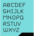 Graphic Alphabet Set vector image vector image
