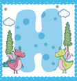 h alphabet letter for kids vector image
