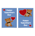 happy valentines day bear vector image