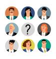 hiring concept business team avatars vector image