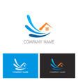 home water logo vector image