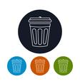 Icon dustbin vector image