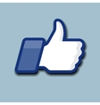LikeThumbs Up symbol icon on a grey background vector image