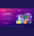 marihuana products innovation concept landing page vector image