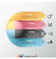 Modern infographic options banner vector image
