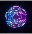 neon portal sign glowing futuristic design vector image vector image