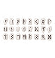 old runic alphabet or hieroglyphics carved on vector image