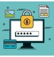 online security password data graphic vector image