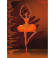 painted ballerina vector image vector image