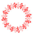 pastel laurel wreath decorative frame on white vector image