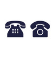 phone icon old telephone for office retro rotary vector image