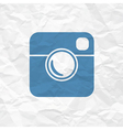 photo icon simple vector image vector image