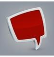 Red cloud speech vector image vector image