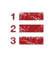 Red grunge list logo vector image