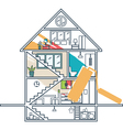 Renovation House remodelingflat design vector image vector image