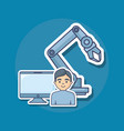 robotic arm icon vector image vector image