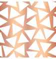 rose gold foil triangle seamless background vector image