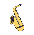 saxophone musical instrument on white background vector image