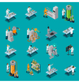 Scientist Icons Set vector image vector image