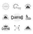 Set of emblem vector image vector image