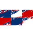 set of usa banner abstract background design vector image