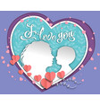 silhouette baby and mom colored layers of paper vector image vector image