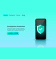 smartphone protection privacy application vector image
