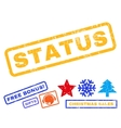 Status Rubber Stamp vector image vector image