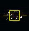 tech futuristic abstract colorful square sci-fi vector image vector image