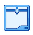 three d printer line icon vector image vector image