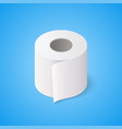 toilet paper roll on blue background isometric vector image vector image