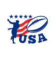 usa rugby poster vector image vector image