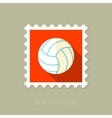 Volleyball flat stamp with long shadow vector image vector image