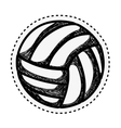 volleyball sport emblem icon vector image vector image