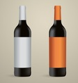 wine bottles packaging vector image vector image