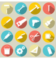 Working Tools Icons Set 16 vector image vector image