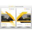 yellow black annual report brochure flyer design vector image