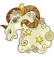 zodiac arise sign vector image vector image