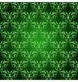 Vintage Damask seamless pattern on green vector image