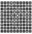 100 adventure icons set black