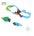 Abstract color map of Samoa vector image vector image