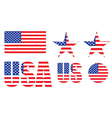 badges made of United States flag vector image