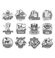 baseball player with sport ball bat glove icons vector image vector image